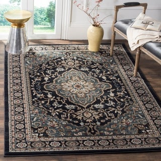 Safavieh Lyndhurst Traditional Oriental Anthracite/ Teal Rug (5' x 8')