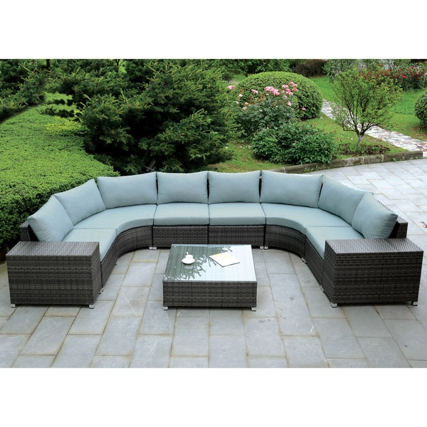 Furniture Of America Griffith Modern 9 Piece Dark Grey
