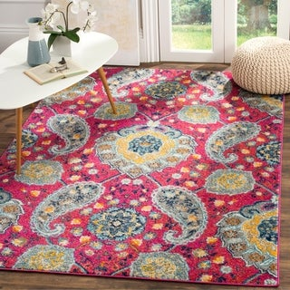 Safavieh Madison Bohemian Fuchsia/ Gold Rug (5' x 8')