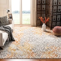 Safavieh Madison Vintage Damask Cream/ Orange Rug - 5' x 8'
