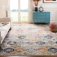 "Safavieh Madison Avery Distressed Cream/ Multi Boho Vintage Area Rug - 5'1"" x 7'6"""
