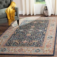 Safavieh Madison Oriental Navy/ Cream Rug - 5' x 8'