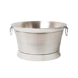 BirdRock Home Silver-colored Stainless Steel Double-wall Round Beverage Tub