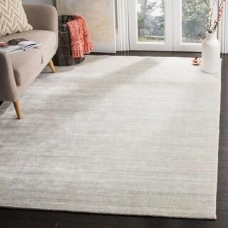 Safavieh Hand-Knotted Mirage Modern Silver Wool Rug (6' x 9')