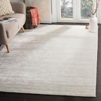 Safavieh Handmade Mirage Modern Silver Wool/ Viscose Rug - 6' x 9'