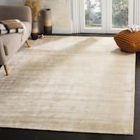 Safavieh Handmade Mirage Modern Beige Wool/ Viscose Rug - 6' x 9'
