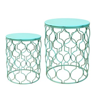 Round Metal Side Table (Set of 2)