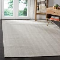 Safavieh Hand-Woven Marbella Flatweave Silver Wool Rug - 5' x 8'