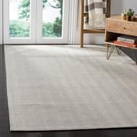 Safavieh Hand-Woven Marbella Flatweave Silver Wool Rug - 6' x 9'