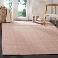 Safavieh Hand-Woven Marbella Flatweave Red Wool Rug - 6' x 9'
