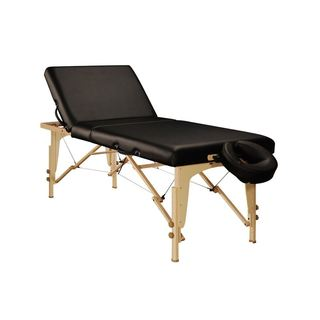 Master Massage Black/Brown Leather/Wood 30-inch Midas-Tilt Portable Massage Table Package