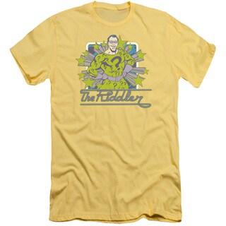 DC/Riddler Stars Short Sleeve Adult T-Shirt 30/1 in Banana