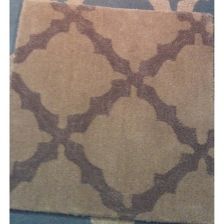 Safavieh Martha Stewart Winding Braid Plaza Taupe Wool Rug (5' x 8')