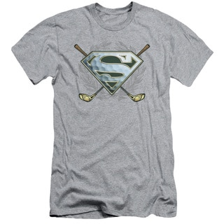 Superman/Fore! Short Sleeve Adult T-Shirt 30/1 in Heather