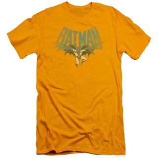 DC/Flying Bat Short Sleeve Adult T-Shirt 30/1 in Gold