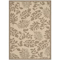 Martha Stewart by Safavieh Paradise Cream/ Brown Indoor/ Outdoor Rug - 5' x 8'