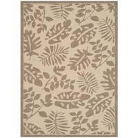 Martha Stewart by Safavieh Paradise Cream/ Brown Indoor/ Outdoor Rug (5' x 8') - 5' x 8'