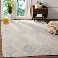 Safavieh Hand-Woven Montauk Flatweave Light Blue Cotton Rug - 5' x 8'
