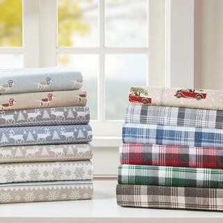 Woolrich Flannel Cotton Flannel Printed Sheet Set