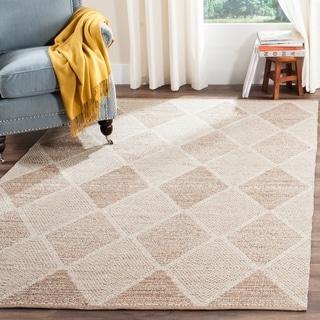 Safavieh Hand-Woven Montauk Flatweave Beige Cotton Rug (5' x 8')