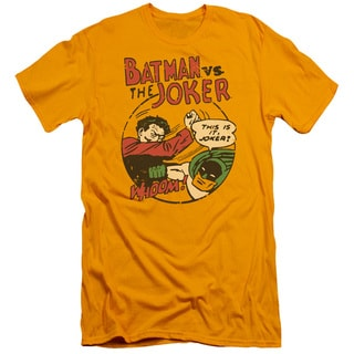 DC/Grudge Match Short Sleeve Adult T-Shirt 30/1 in Gold