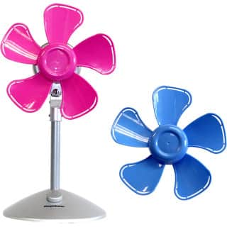 Keystone Pink/Blue 10-inch Flower Fan with Interchangable Heads (Option: Blue)|https://ak1.ostkcdn.com/images/products/12676864/P19462533.jpg?impolicy=medium