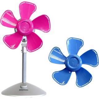 Keystone Pink/Blue 10-inch Flower Fan with Interchangable Heads