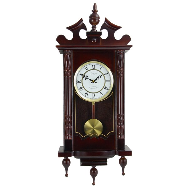 Bedford Clock Collection Cherry Oak Wall Clock. Opens flyout.