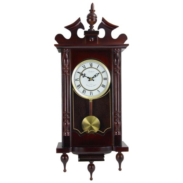 Bedford Clock Collection Cherry Oak Wall Clock