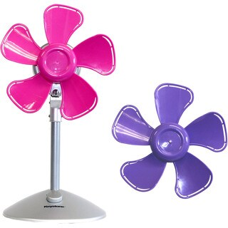 Keystone Purple/Pink 10-inch 2-speed Flower Fan with Interchangable Heads