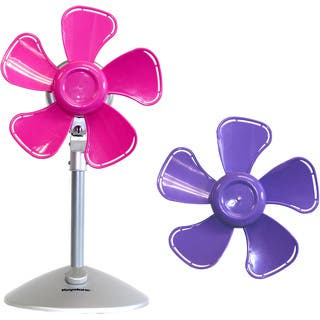 Keystone Purple/Pink 10-inch 2-speed Flower Fan with Interchangable Heads|https://ak1.ostkcdn.com/images/products/12676874/P19462536.jpg?impolicy=medium