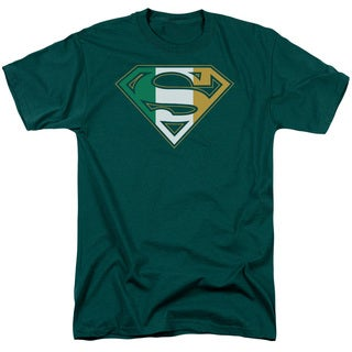 Superman/Irish Shield Short Sleeve Adult T-Shirt 18/1 in Hunter Green