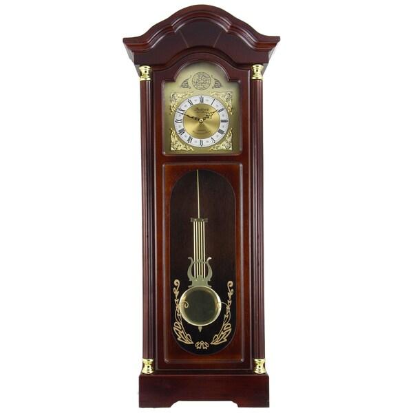 Shop Bedford Clock Collection Antique Cherry Oak Finish 33