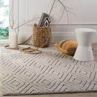 Safavieh Handmade Natura Southwestern Silver Wool / Cotton Rug - 5' x 8'