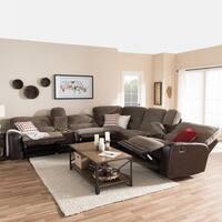 Baxton Studio Epiktetos Modern Brown Two-Tone Sectional Sofa