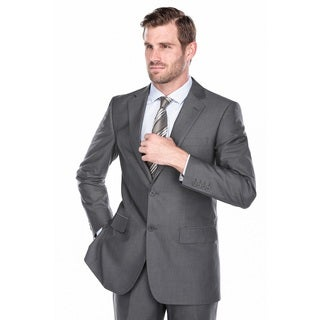 Verno Men's Warm Grey Classic Fit Two-piece Suit