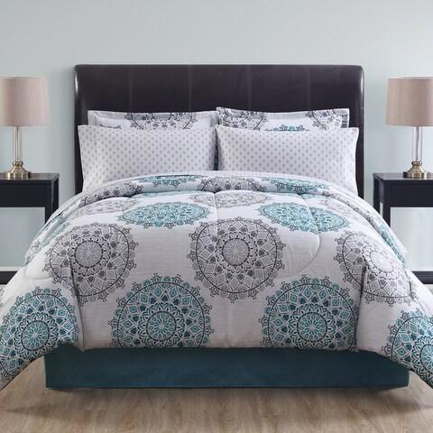 Lemon & Spice Tasmin Medallion Bed-in-a-Bag Comforter Set