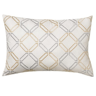 Nostalgia Home Crosstown Stanton Stripe Embroidered Pillow