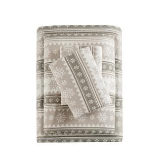 Woolrich Nordic Snowflake Cotton Flannel Sheet Set 2-Color Option
