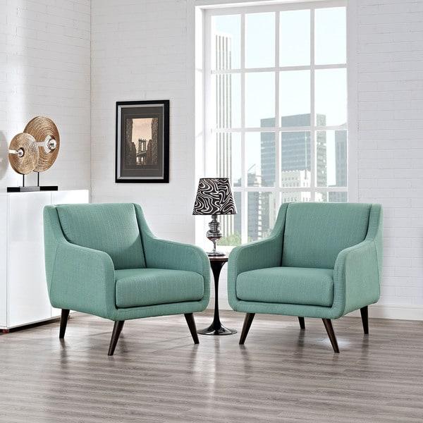 Bon Modway Verve Upholstered Armchairs (Set Of 2)