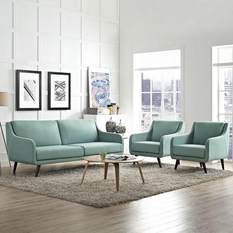 Modway Verve Fabric Upholstered Living Room Set (Set of 3)