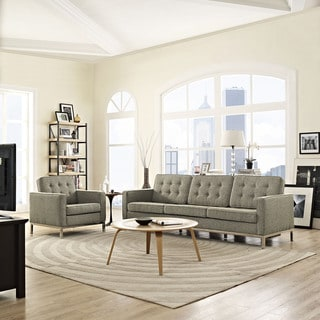 Loft Fabric Upholstered Sofa and Armchair Living Room Set