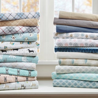 True North By Sleep Philsophy Cozy Flannel Cotton Flannel Printed Sheet Set