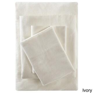 Pine Canopy Little River Flannel Cotton Sheet Set (Option: Queen-Ivory)