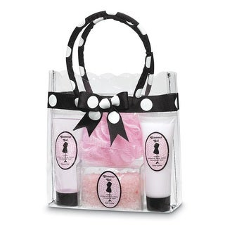 Glamorous Polka-Dot Spa Gift Bag - Clear