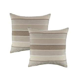 Austin Horn Classics Sunbrella Milano Flax 18-inch Outdoor Pillow (set of 2)