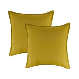 Austin Horn Classics Sunbrella Echo Citron 20-inch Outdoor Pillow (set of 2)