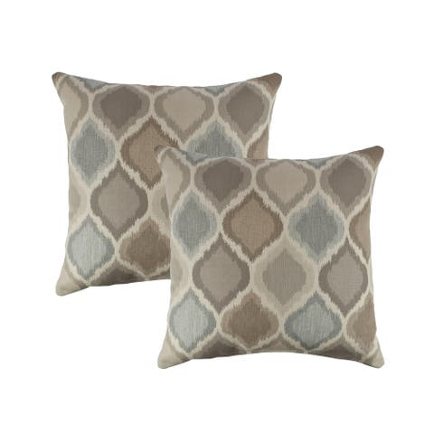 Austin Horn Classics Sunbrella Empire Dove 18-inch Outdoor Pillow (set of 2)