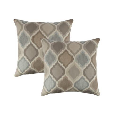 Austin Horn Classics Sunbrella Empire Dove 18-inch Outdoor Pillow (set of 2)