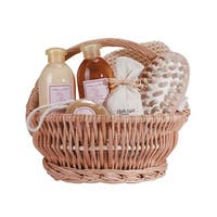 Bath and Body Healing and Soothing Ginger Fragrance Spa Basket - Clear
